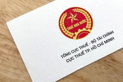 Danh thiếp Cục Thuế