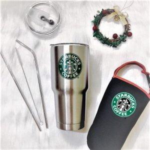 in bình nước inox Starbucks
